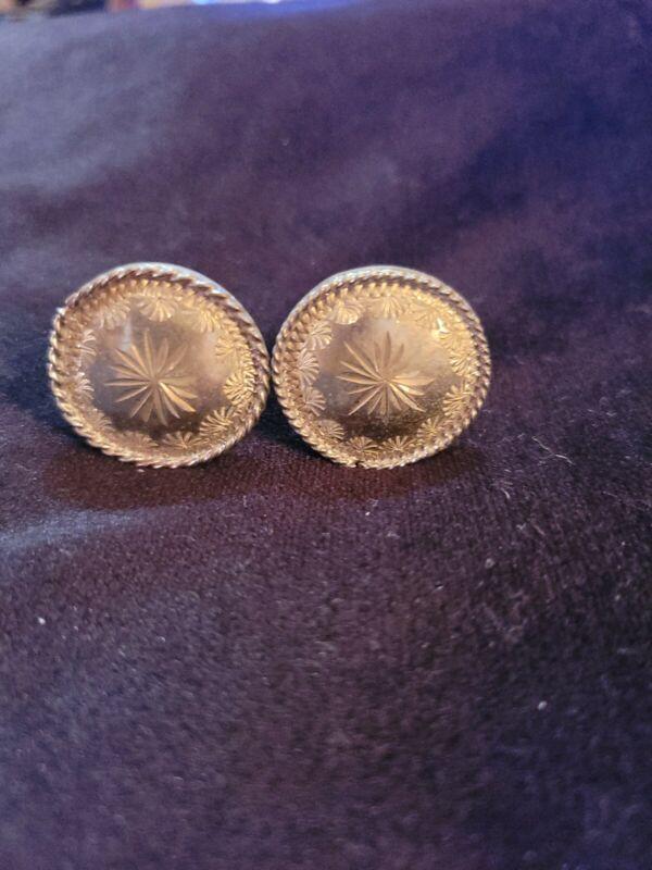 Montana silver saddle screw in Conchos  snowflake  rope edge 2 pc 1 dia new