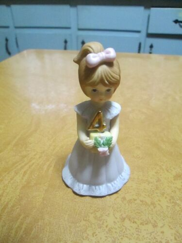 Enesco Growing Up Birthday Girl Figurine (Age 4)