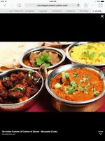 Looking for Indian Cuisine in-home cooking class (female only)