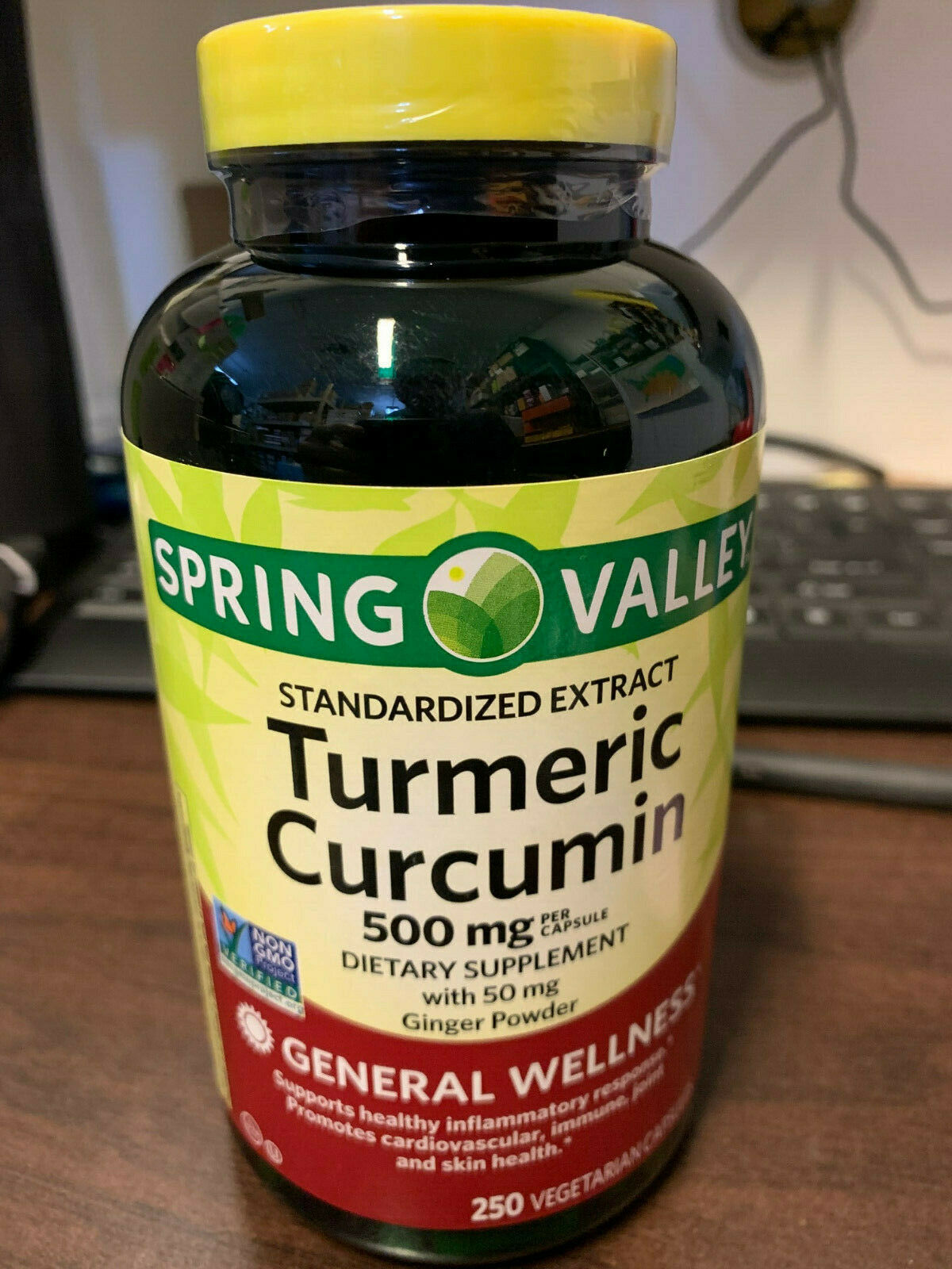 Spring Valley Turmeric Curcumin 500mg with 50 mg Ginger Powd