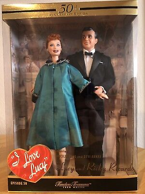 I Love Lucy Doll Episode 50 Lucy and Ricky Ricardo 50th Anniversary Edition NEW