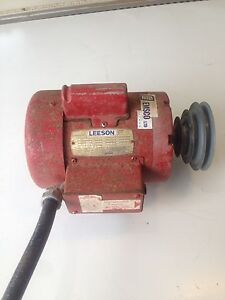 Emsco/Leeson 1/2 HP  240V Electric Motor with Control Box