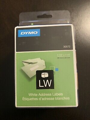 Dymo Labelwriter Address Labels 1 18 X 3 12 White 2 Pack 260 Labelsroll 30572