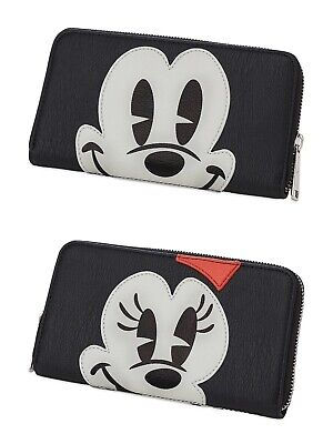 NWT! Loungefly Disney Parks Mickey & Minnie Mouse Face Wallet Exclusive