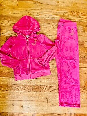 Juicy Couture Girl velour Pink Ser size 8/10