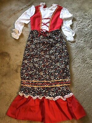 Old Fashioned Halloween Costumes (Halloween costume girls size 14 long sleeve prairie old fashioned)