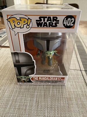 Funko The Mandalorian (Flying With Child) 402 In Hand