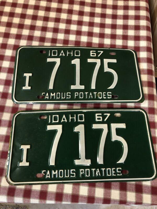 1967 IDAHO License Plate Set