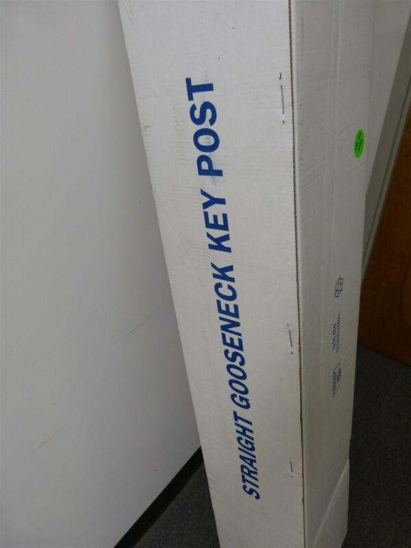 """DoorKing 1200-050 Straight Gooseneck Key Post 42"""" Tall 4x4 w 8x8 Base Plate"""