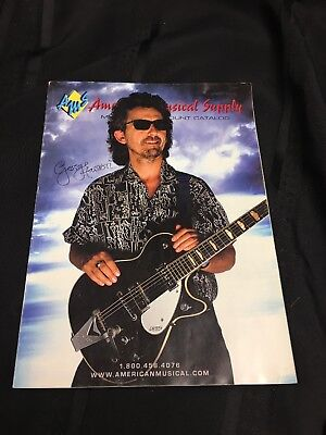 (American Musical Supply Catalog With George Harrison Cover With Signature)