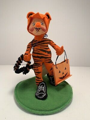 "1998 Annalee Dolls 7"" Halloween Trick Or Treat Tiger Kid new with tag and Bag"