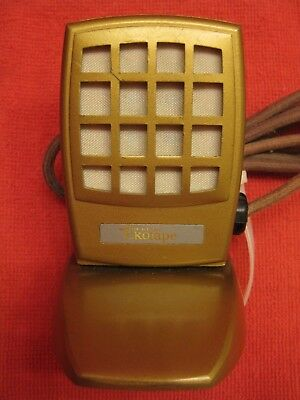 Vintage WEBSTER ELECTRIC EKOTAPE Metal Microphone w/stand - UnTested