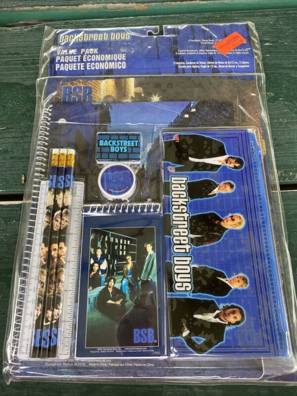 Vintage 2001 Backstreet Boys School Notebook Pencils Set New