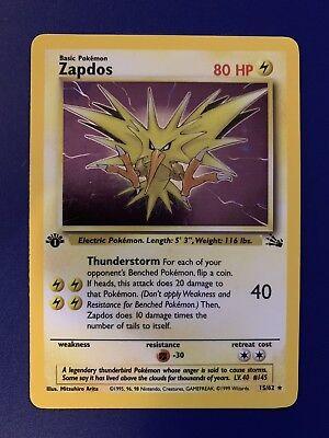 Used, Pokemon Zapdos 15/62 1st Edition Fossil Set Holo Rare for sale  Markham