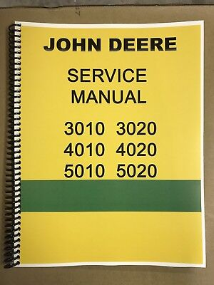 3010 John Deere Technical Service Shop Repair Manual Condensed Version