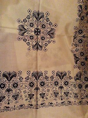 Наборы столового белья Black floral print