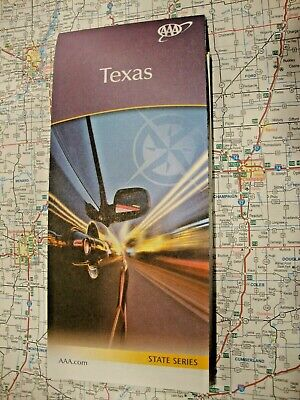 TEXAS STATE MAP Travel Road Street Vacation Tour Guide Roadmap 2018-2020 AAA TX