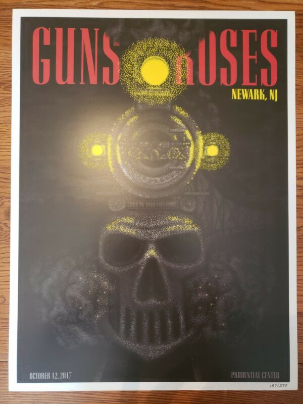 Guns n roses lithograph Newark