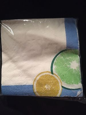 Paper Napkins 30 Count Lemons And Limes Margarita Party