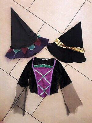Top 5 Halloween Costumes For Girls (GIRLS GEORGE HALLOWEEN TOP & 2 WITCH HATS COSTUME FANCY DRESS - AGE)