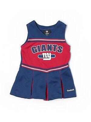 Baby Cheerleader Costume (Baby Toddler Girl New York Giants Cheerleader Costume Dress Size 12)