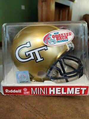 Georgia Tech Yellow Jackets Riddell Mini Helmet NCAA NIB Ramblin Wreck ACC GTECH