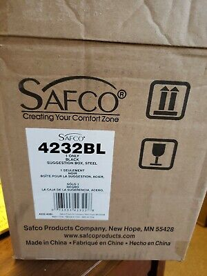 New Safco Products 4232bl Steel Suggestion Box Black Free Shipping