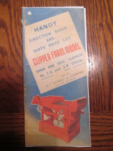 Clipper 2B Seed and Grain Cleaner Manual