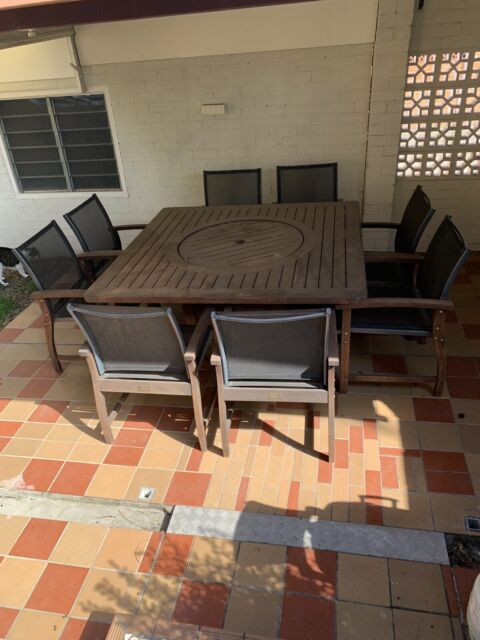 8 Seater Timber Outdoor Setting Outdoor Dining Furniture