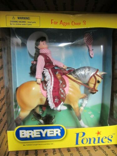 BREYER PONIES COWGIRL HORSE AND RIDER SET #720028