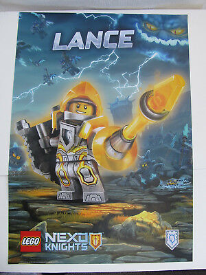 Lego Nexo Knights Lance poster banner paper sign  68cm x 48cm Double Sided NEW - Lego Banner