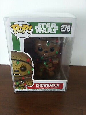 *NEW* Chewbacca Lights w PROTECTOR Christmas Holiday Star Wars Funko Pop #278
