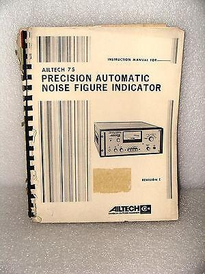 Ailtech 75 Automatic Noise Figure Indicator Instruction Maintenance Manual