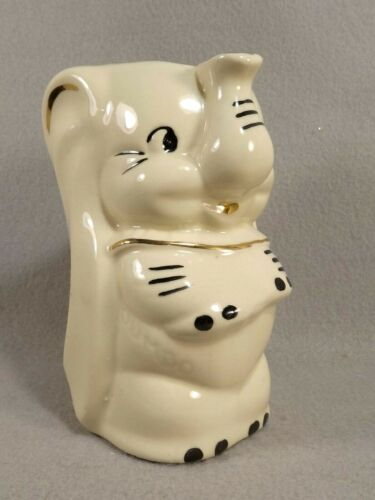 Walt Disney USA Dumbo Pitcher Vintage 1950s Pottery Milk Syrup Container