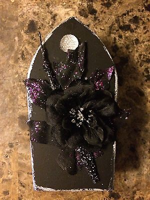 Miniature Black Goth Coffin 3 for - Coffins For Halloween