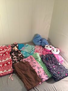 10/12 pj's, 2-3 slippers lot