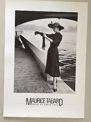 MAURICE TABARD, 'MODE DE PARIS,1950' FASHION POSTER, AUTHENTIC 1986 PHOTO PRINT