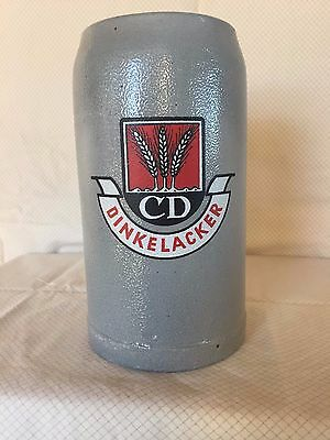 Vintage 1968 German 1 Liter Dinkelacker Beer Stein - One Owner - New Condition