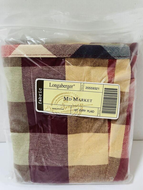 Longaberger Liner Only NEW For Medium Market Basket WT Everyday Plaid