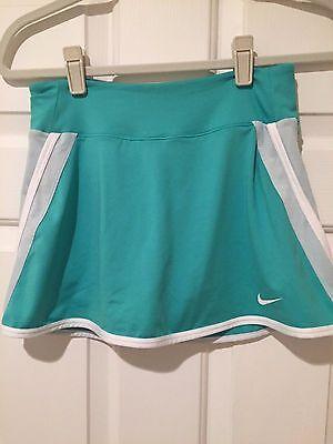 Nike Dri-Fit Blue Green & White Tennis / Running Skort  - Women's Size S -EUC