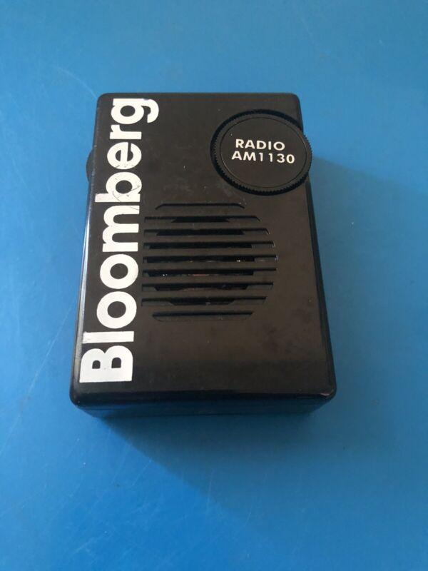 Vintage Bloomberg Pocket Promotional Radio