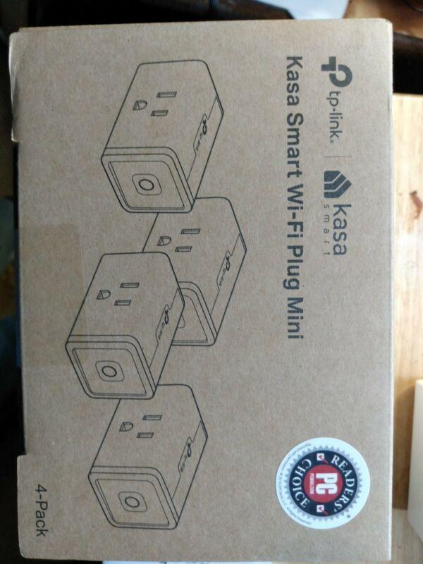 Kasa Smart Plug Mini Smart Home Wi-Fi Outlet by TP-Link 4 PACK Model HS103P4