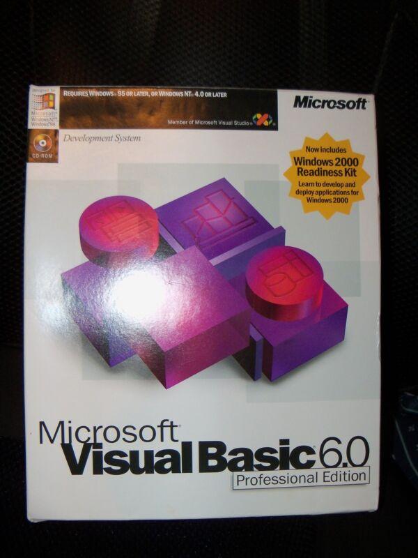 Microsoft Visual Basic 6.0 Professional 6 BOX FULL works in Windows VERSION 10