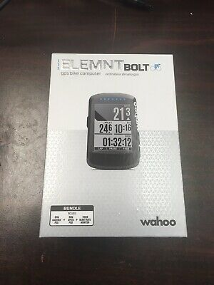 Wahoo Fitness ELEMNT BOLT GPS Bike Computer  (bundle)- (WFCC3B)