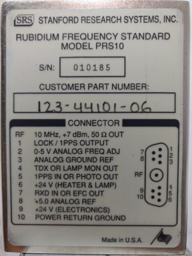 Stanford Research PRS-10 Rubidium Frequency Standard