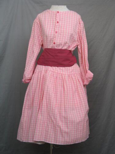 Victorian Dress Edwardian Civil War Prairie Western Style Blouse & Skirt