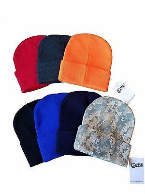 2 Pack Men Women Winter Cuffed Knit Beanie Ski Cap 12