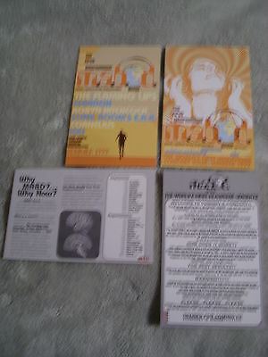 VERY RARE PROMO Flaming Lips 2x postcard M.A.B.D. tour HEADPHONE CONCERT Sebadoh