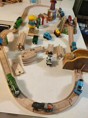 HUGE Lot of Thomas the Train Wooden Railway Track Engines and more