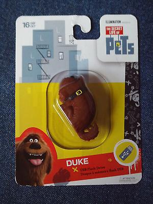 The Secret Life Of Pets 16GB USB Flash Drive - Duke - Shaped *New*